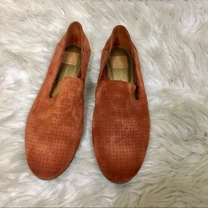 Dolce Vita Rust Perforated Suede Loafers